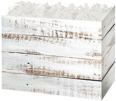 Distressed White Wood