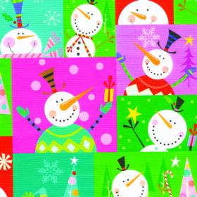 Colorblock Snowman