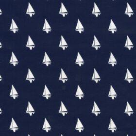 Navy Blue Sailboats