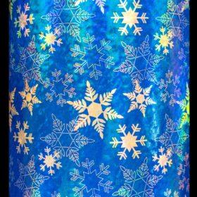 Geo Blue Snowflakes