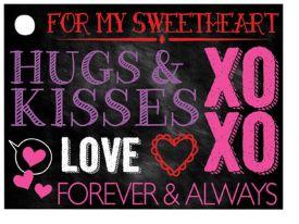 Hugs & Kisses Chalkboard