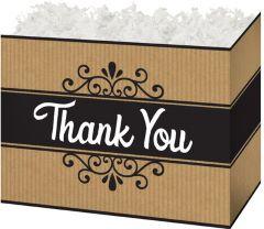Thank You Kraft Stripes