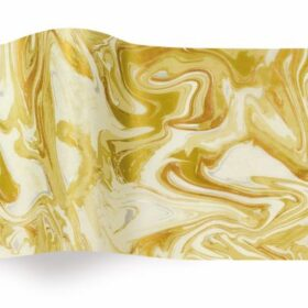 Gold Marble on Ivory